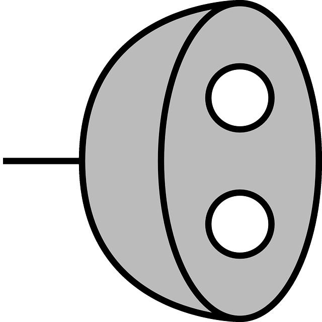 šedá zástrčka – jednoduchý obrázek