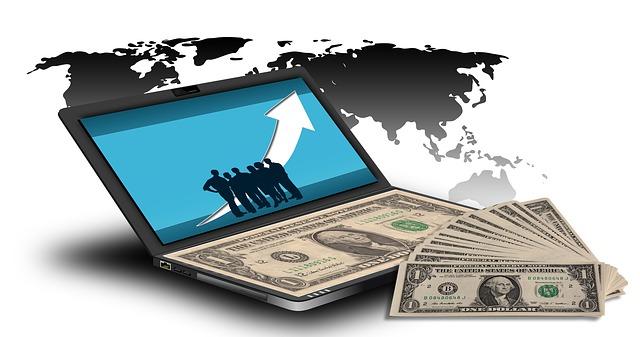peníze na internetu