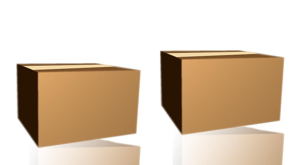 zabalené krabice